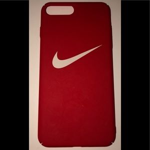 Nike logo Iphone 8 plus case Red and white